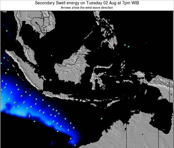 Indonesia Secondary Swell energy on Sunday 02 Nov at 1pm WIT