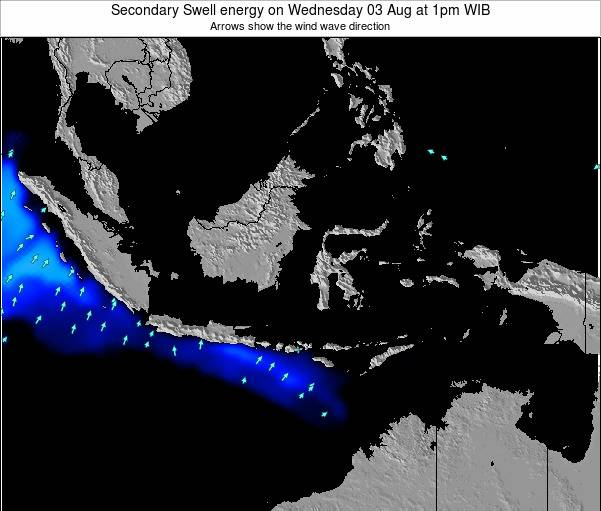 Indonesia Secondary Swell energy on Wednesday 12 Mar at 1am WIT