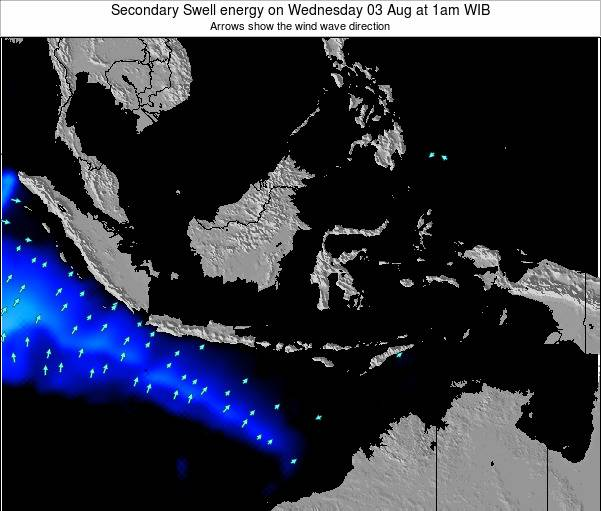 Indonesia Secondary Swell energy on Friday 13 Dec at 1pm WIT
