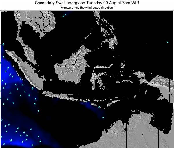 Indonesia Secondary Swell energy on Tuesday 23 Sep at 7am WIT