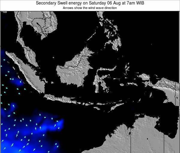 Indonesia Secondary Swell energy on Friday 25 Jul at 7pm WIT