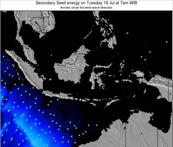 Indonesia Secondary Swell energy on Monday 21 May at 7am WIB map