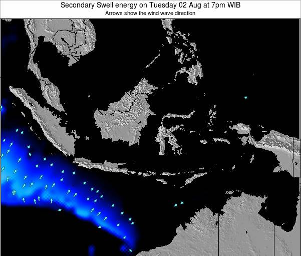 Indonesia Secondary Swell energy on Thursday 31 Jul at 7pm WIT