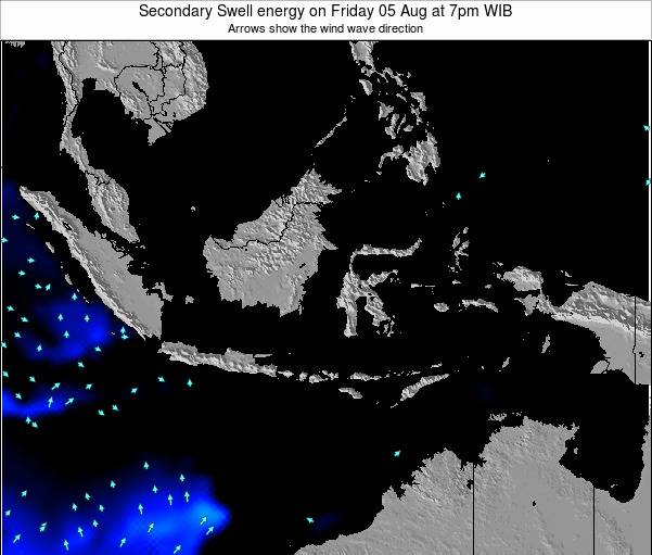 Indonesia Secondary Swell energy on Friday 06 Dec at 1pm WIT