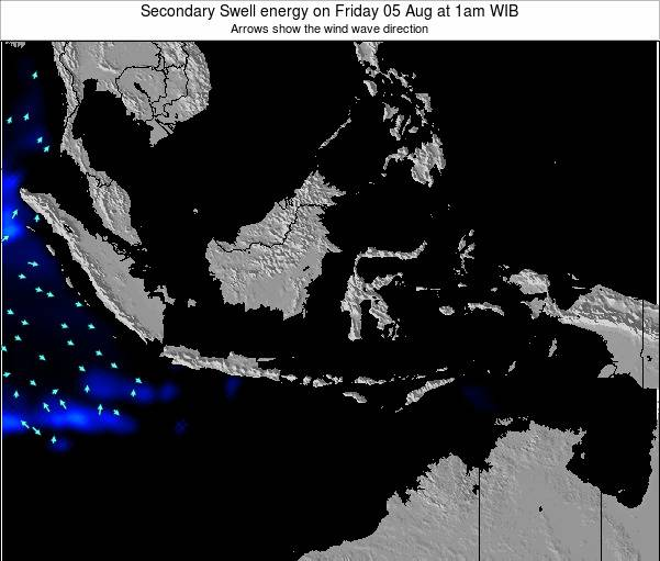 Indonesia Secondary Swell energy on Wednesday 20 Aug at 7pm WIT