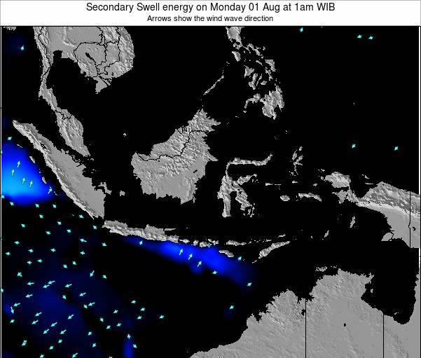 Indonesia Secondary Swell energy on Tuesday 28 Jul at 7pm WIB