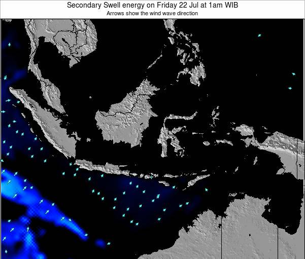 Indonesia Secondary Swell energy on Thursday 09 Jul at 1am WIT