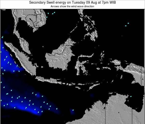 Indonesia Secondary Swell energy on Saturday 07 Dec at 1pm WIT