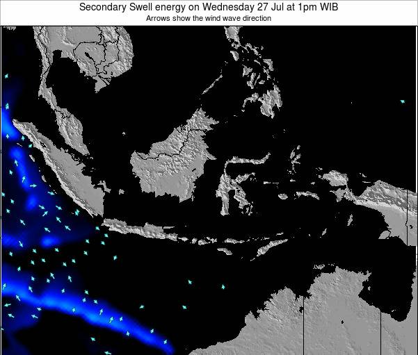 Indonesia Secondary Swell energy on Saturday 22 Jun at 7pm WIT