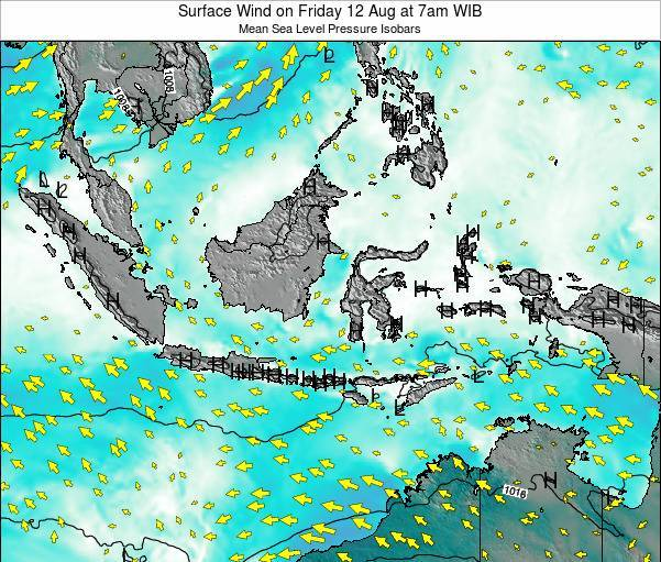 Indonesia Surface Wind on Wednesday 30 May at 7pm WIB map