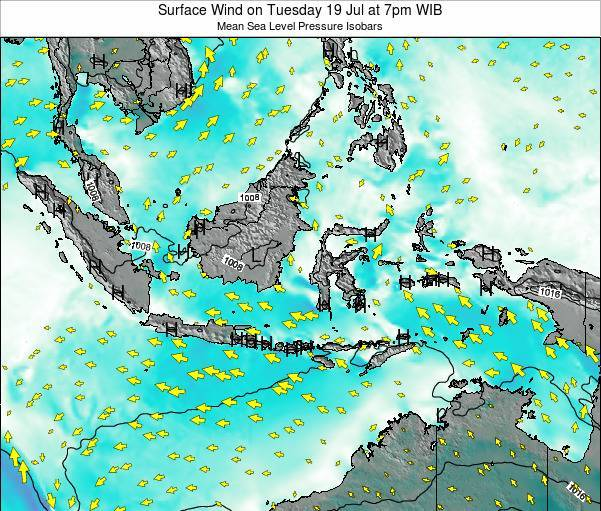 Indonesia Surface Wind on Thursday 11 Feb at 1am WIB