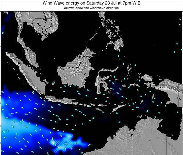 EastTimor Wind Wave energy on Wednesday 29 May at 1am WIT