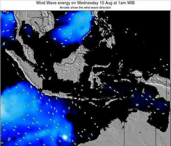 Indonesia Wind Wave energy on Thursday 06 Oct at 1am WIB