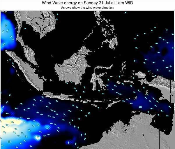 Indonesia Wind Wave energy on Thursday 24 Apr at 1am WIT