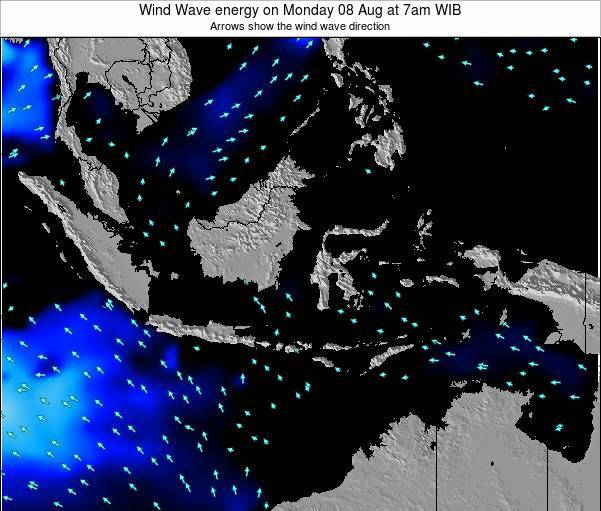 Indonesia Wind Wave energy on Tuesday 16 Feb at 7am WIB