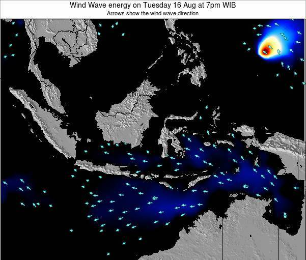 Indonesia Wind Wave energy on Tuesday 28 May at 1pm WIT