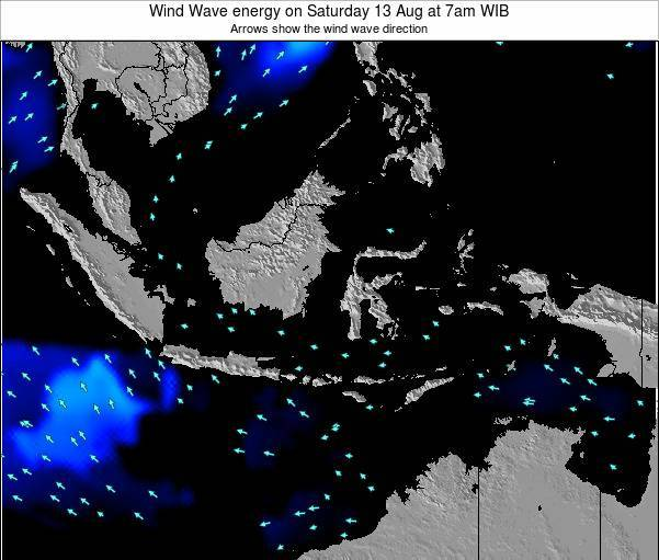 Indonesia Wind Wave energy on Saturday 29 Oct at 1pm WIB