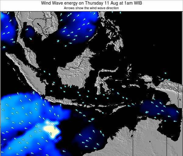 Indonesia Wind Wave energy on Monday 27 May at 7am WIT
