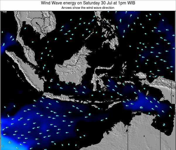 Indonesia Wind Wave energy on Saturday 25 May at 1pm WIT
