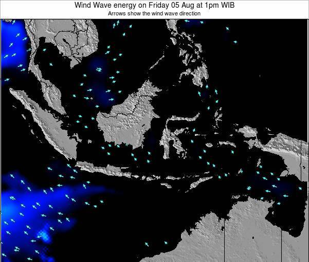Indonesia Wind Wave energy on Wednesday 22 May at 1pm WIT