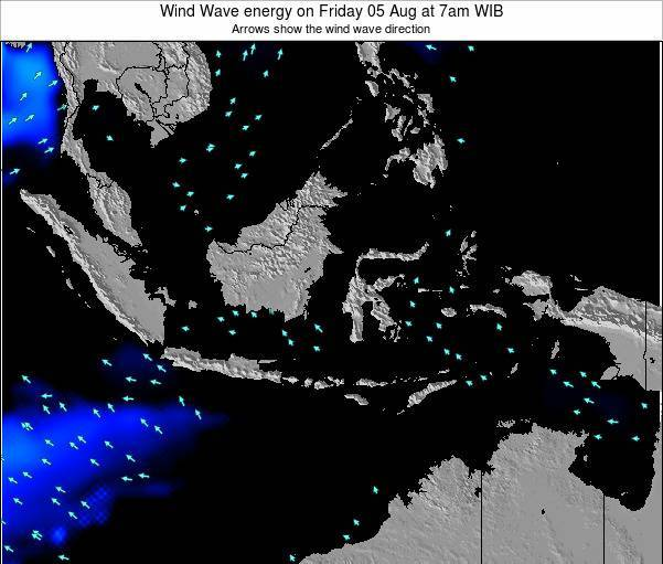 Indonesia Wind Wave energy on Friday 21 Jun at 7am WIT
