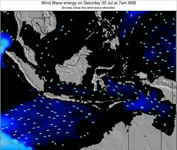 Indonesia Wind Wave energy on Monday 27 Oct at 1am WIT
