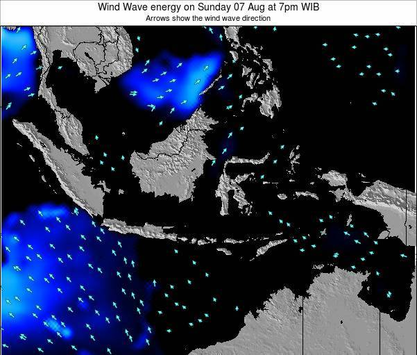 Indonesia Wind Wave energy on Friday 25 Apr at 1pm WIT