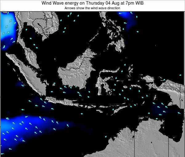 Indonesia Wind Wave energy on Friday 13 Dec at 7am WIT