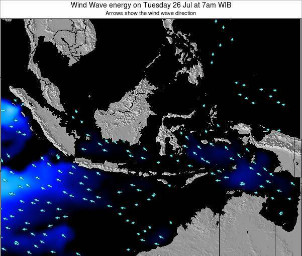 Indonesia Wind Wave energy on Saturday 19 Aug at 1am WIB