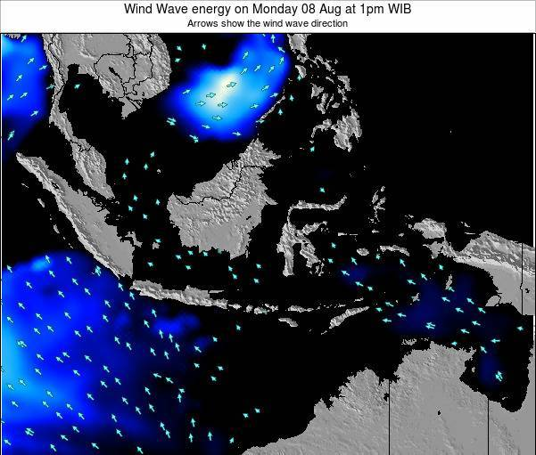 Indonesia Wind Wave energy on Friday 24 May at 7pm WIT