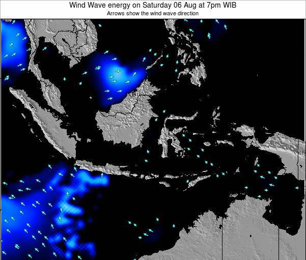 Indonesia Wind Wave energy on Thursday 24 Jul at 7am WIT