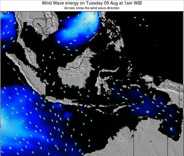 EastTimor Wind Wave energy on Saturday 22 Jun at 1am WIT