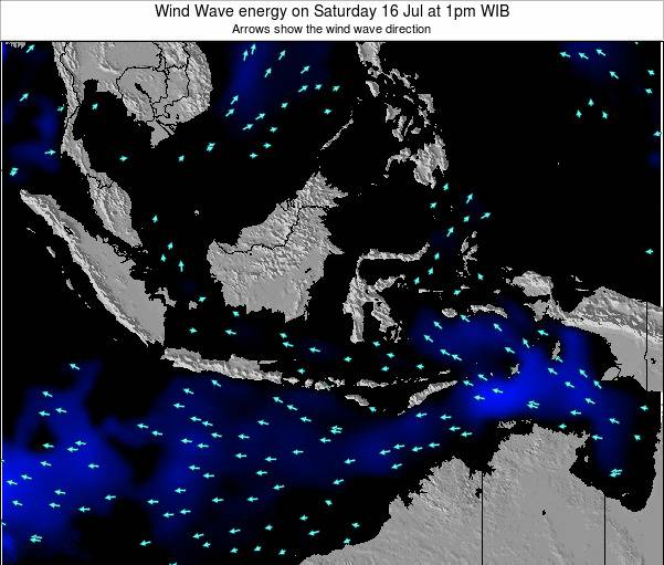 Indonesia Wind Wave energy on Tuesday 02 May at 1pm WIB