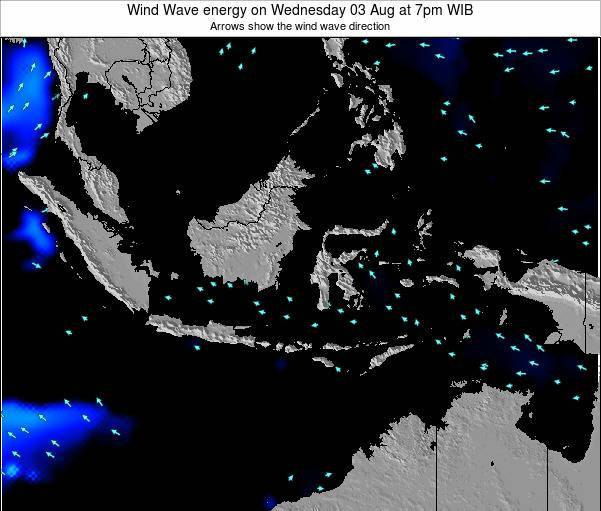 Indonesia Wind Wave energy on Sunday 19 May at 7am WIT