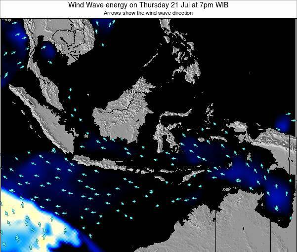 Indonesia Wind Wave energy on Monday 27 May at 7pm WIT