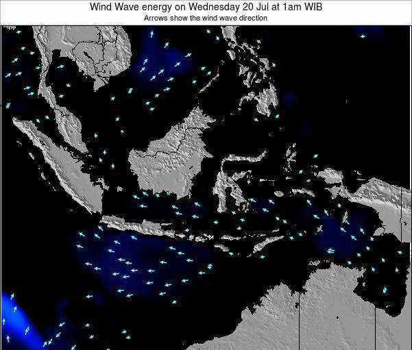 EastTimor Wind Wave energy on Monday 27 May at 1am WIT