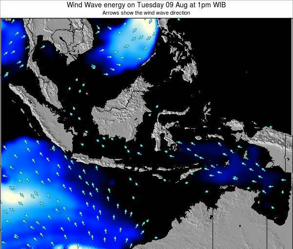 Indonesia Wind Wave energy on Sunday 26 May at 7am WIT