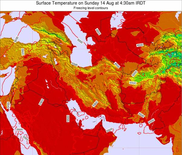 Iran Weather Map.Iran Surface Temperature On Thursday 25 Oct At 9 30am Irst
