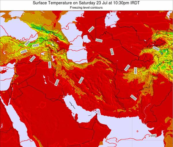 Iran Weather Map.Iran Surface Temperature On Saturday 16 Feb At 9 30am Irst