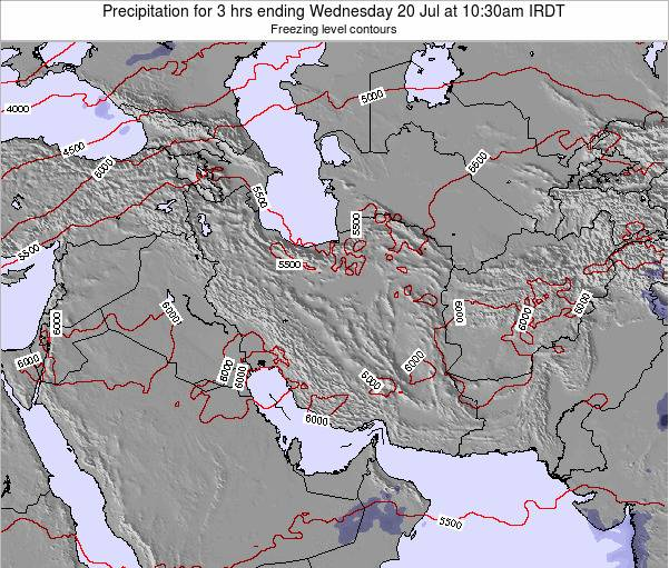 Turkmenistan Precipitation for 3 hrs ending Wednesday 29 May at 10:30pm IRDT map