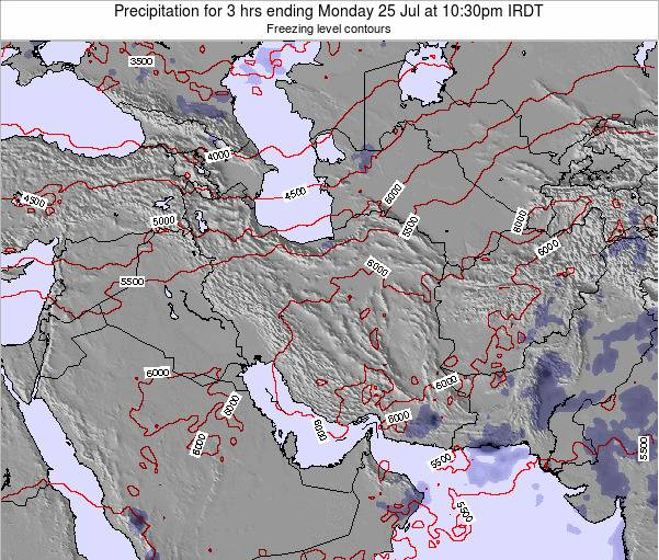 Turkmenistan Precipitation for 3 hrs ending Friday 24 May at 4:30pm IRDT map