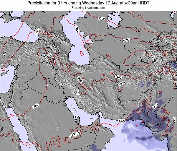 Turkmenistan Precipitation for 3 hrs ending Friday 31 May at 10:30am IRDT map