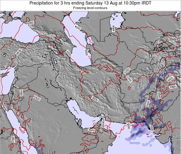 Turkmenistan Precipitation for 3 hrs ending Saturday 01 Jun at 10:30am IRDT map