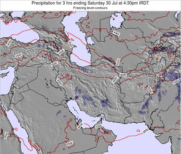 Turkmenistan Precipitation for 3 hrs ending Thursday 20 Jun at 4:30pm IRDT map