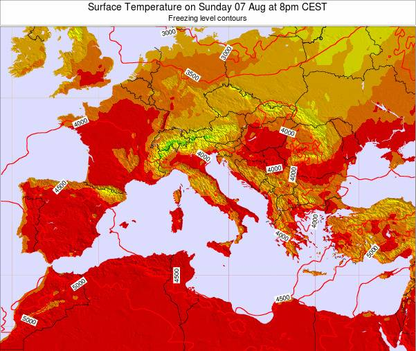 Malta Surface Temperature on Friday 18 Apr at 2pm CEST map