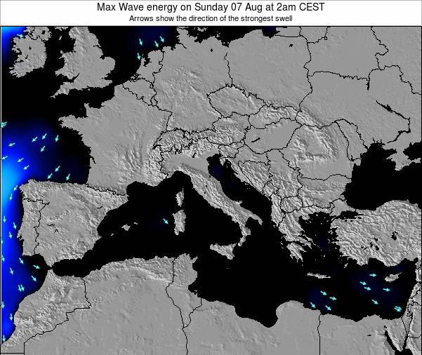 SanMarino Max Wave energy on Wednesday 19 Sep at 2pm CEST map