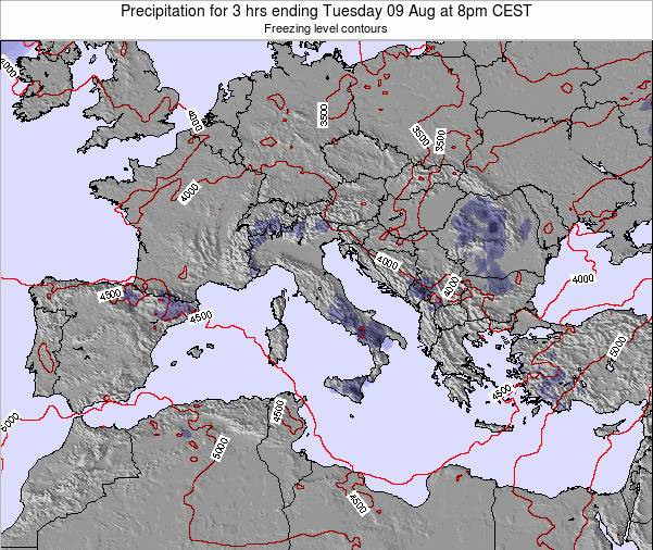 Italy Precipitation for 3 hrs ending Friday 25 May at 8am CEST map