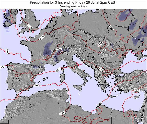 Italy Precipitation for 3 hrs ending Friday 06 May at 2am CEST