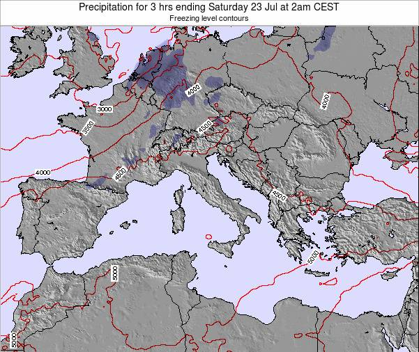 Italy Precipitation for 3 hrs ending Tuesday 29 Apr at 8pm CEST