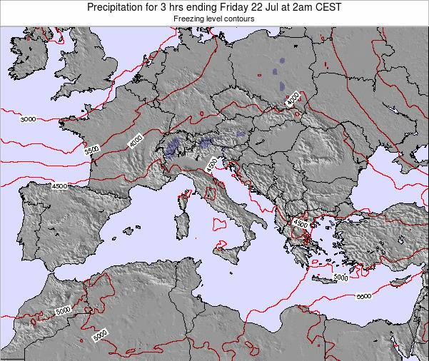 Malta Precipitation for 3 hrs ending Sunday 23 Dec at 7am CET map